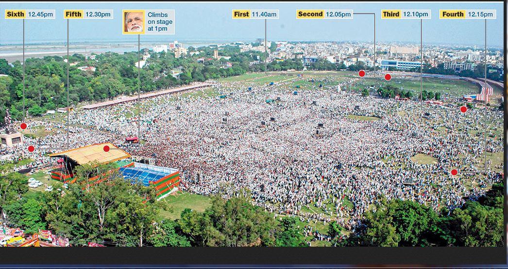 Bihar Blasts on Modi Speech